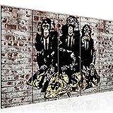 Bilder Banksy Street Art Affen Wandbild 200 x 80 cm Vlies - Leinwand Bild XXL Format Wandbilder Wohnzimmer Wohnung Deko Kunstdrucke MADE IN GERMANY Fertig zum Aufhängen 303455c