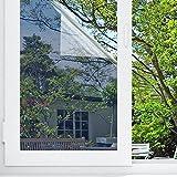 Sichtschutzfolie Hitzeschutz Sonnenschutzfolie Selbstklebende Spiegelfolie Fensterfolie Tönungsfolie Sichtschutz Wärmeisolierung UV-Schutz Silber 45 x 200