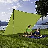Berger Tarp grün, in verschiedenen Größen, Sonnenschutz für Garten Terasse Camping und Strand (3 x 3 m)