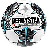 Derbystar Erwachsene Bundesliga Brillant Replica Fußball, Weiss schwarz Petrol, 5