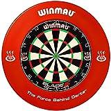 Winmau Dartboard Blade 5 Tunierdartscheibe mit Winmau Surround in verschiedenen Farben (Rot)