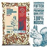 Birds&Friends Eichhörnchenfutter, 1,15 kg Futter für Eichhörnchen und Streifenhörnchen, Erdnüsse Rot/Weiß