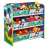 Mickey Mouse - Regal zur Spielzeugaufbewahrung mit sechs Kisten für Kinder
