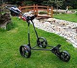 Bullet 5000 Deluxe 3-Rad Golftrolley schwarz