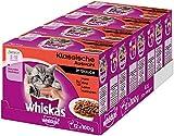 Whiskas Katzenfutter Junior für junge heranwachsende Katzen, 48 Portionsbeutel, (4 x 12 x 100 g)