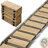 Rollweg Holz 35x250 cm Gartentritte Holz-Tritte, Holz-Fliesen für den Weg im Garten von Gartenpirat