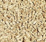 Jumbogras Kleintier-Einstreu-Pellets 25 kg aus Miscanthus/Elefantengras/Chinagras für Hasen/Kaninchen, Maus, Vogel, Meerschweinchen, hochwertiger Stroh- u. Sägespäne-Ersatz für sauberen Käfig & Stall (25-kg-Karton)