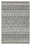 Grün Deko-leichte Outdoor wendbar Kunststoff Relic Teppich, plastik, grau / weiß, 120 x 180 cm