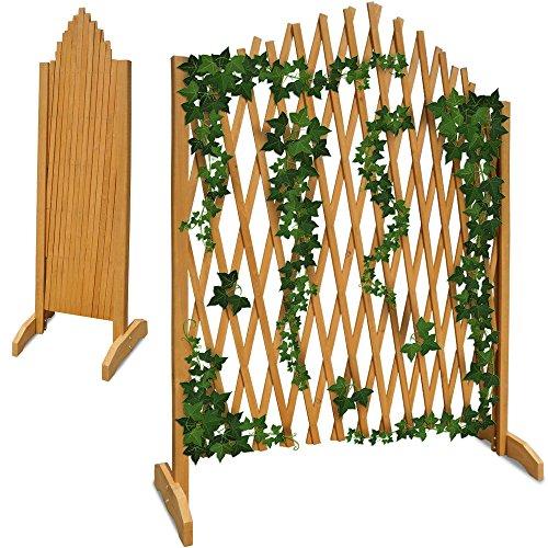 Gartenzaun Rankhilfe Rankgitter Holzzaun Pflanzengitter  zusammenfaltbar  variabel verstellbar  180 cm