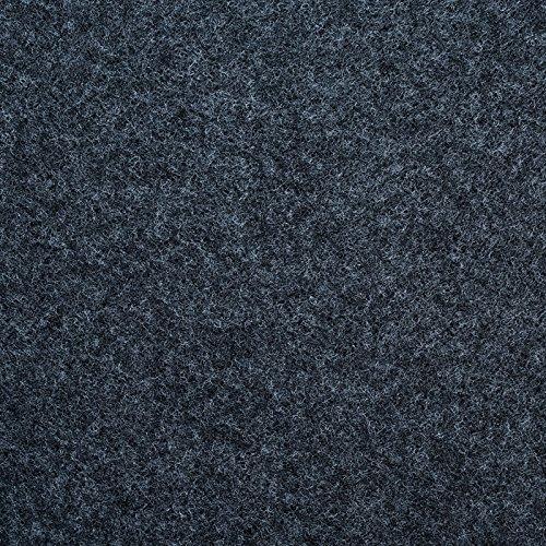 Teppichfliesen Scene selbstklebend | Rücken: Latex | Antistatisch | Bodenbelag für Büro und Gewerbe | 40x40 cm | Viele Farben (Anthrazit)