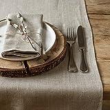 Leinen Tischläufer - Läufer - Tischband - Tischtuch - Natur Braun (40 x 100 cm)