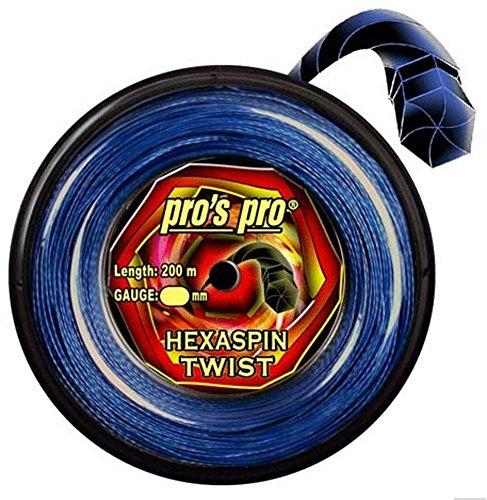 Tennissaite Hexaspin Twist 1.25mm mit Spin 200m blau