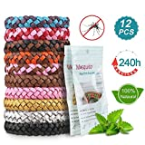 Nasharia Mückenschutz Armband, 12 Stück Mosquito Repellent Bracelet Wristband, natürlichen Anti Moskito mücken Armband für Kinder geeignet, Erwachsene Indoor und Outdoor