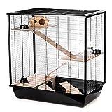 Little Friends Grosvenor Ratten- und Hamster-Käfig mit Holz-Podest und -Leiter