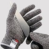 Schnittschutzhandschuhe - Schnittschutzklasse Level 5 für Küche / Baustelle / Gartenbau / Schlachtung Schutz der Fingerhand (XL)
