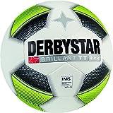 Derbystar Fußball Brillant TT, Trainingsball, Ball Größe 5 (420 - 440 g), weiß gelb schwarz, 1016