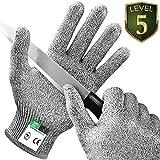 Kasimir Schnittschutz Handschuhe Schnittfeste Handschuhe Extra Starker Level 5 Schutz, EN-388 Zertifiziert, Lebensmittelecht - für Küche Garten oder Beruf - Perfekte Passform - 1 Paar/Größe S