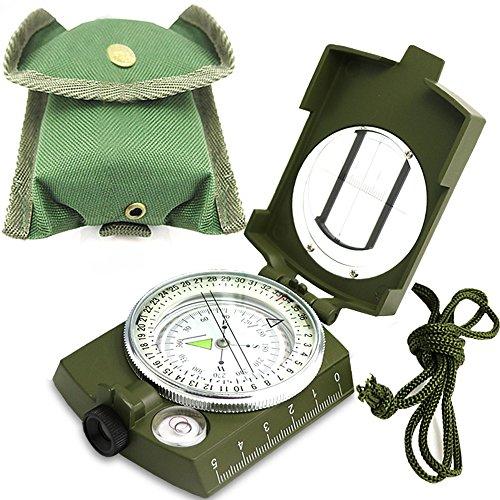 LongChuan Kompass kompass Wandern Wasserdicht Wandern Militär Navigation Kompass mit Fluoreszierendem Design, Perfekt für Camping Wandern und andere Outdoor-Aktivitäten
