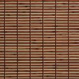 Holzrollo Breite 90 cm Länge 220 cm Farbe natur oder braun Seitenzug Fenster Tür Rollos (braun)