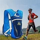 AONIJIE Ultrleicht 5.5L Laufen Running Trinkrucksack Hydrationspack Hydration Rucksack (Blau-M/L)