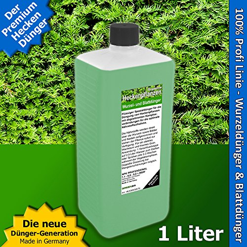 Heckenpflanzen Dünger XL 1 Liter Supreme für Laubhecken und Immergrüne Hecken