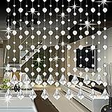 Wanshop Kronleuchter Kristall-Glasperlenvorhang, Luxus-Wohnzimmer, Schlafzimmer, Fenster, Tür Hochzeitsdecor, Perlen, Kristall, replacememnt Kristall-Kronleuchter