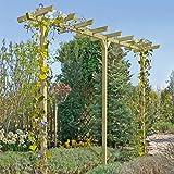 Pergola aus Holz Torbogen Rankhilfe Länge ca. 450 cm (7x7) von Gartenpirat
