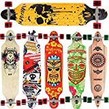 [Maronad.GCP] Longboard Skateboard drop through Race Cruiser ABEC-11 Skateboard 104x24cm Streetsurfer skaten SKULL