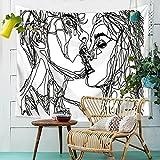HANSHI Wandteppich Modern Weich Dünn Wandbehang Wandtuch Tischdecke Strandtuch Aus leichtem Polyster Wanddeko Dekoration für Ihr Zimmer HYC41-1