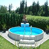 Rundpool Fun-Zon 5,00 x 1,20m, Stahlwandpool, Schwimmbecken, Stahlwandbecken