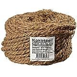 Ø 7.0 mm Kokosseil | Kokos-Tau: braune Garten-Schnur | Baum-Kordel aus 100% Naturfasern (Kokosfaser) in Naturfarbe (Länge 50m)