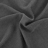 Xingshuoonline Sofa Abdeckung 6 x Stuhlhusse Stretchhusse Polyester Rippenstoff grau Sofa Überwürfe