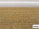 Die HEVO Sisal Naturfaser Kollektion - Salsa Sisal Teppichboden in 6 Farben - Inkl. 2% HEVO Bestellgutschein Honig