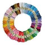 SOLEDI Stickgarn Embroidery Floss multifarben weicher Baumwolle perfekt für Friendship Bracelets Freundschaftsbänder Kit Stickerei Basteln Leisure Arts Kreuzstich Embroidery Threads Nähgarne Häkeln 8m (zufällige Farbe) (50 Farben)