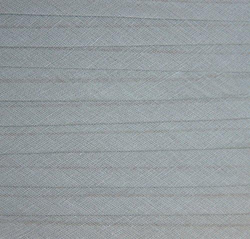 Schrägband / Textilband - Blende 'Grau' 20 mm / Baumwolle (10 Meter)
