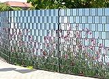 PerfectHD Zaunsichtschutz, Windschutz (30 versch. Motive) für Doppelstabmattenzaun *Sommerblumen* einseitig, 19cm, 9 Streifen