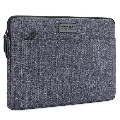 KIZUNA 11 Zoll Laptop Hülle Notebook Tasche Laptophülle Sleeve Schutzhülle Tragbar Bag Case Für 11.6' Computer/ 13.3' MacBook Pro Touch Bar/ 2017 Neu 12' MacBook/ Dell XPS 13/ 12.3' Surface Pro, Grau