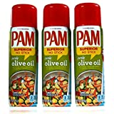 PAM Olive Oil No-Stick Cooking Spray 3 x 141g (3-Pack)