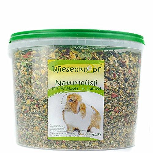 4,5kg Kaninchenfutter Wiesenknopf Strukturfutter mit Kräuter