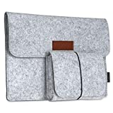 dodocool 12 Zoll Filz Laptop Sleeve Tasche Tragbar Notebook Hülle mit Mini Beutel für 12' MacBook Retina/ 11' MacBook Air / 9.7' iPad Grau
