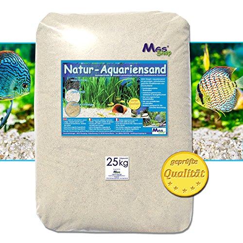 Aquariensand 25kg gerundet NATUR BEIGE geprüfte Qualität Körnung (0.5-1mm)