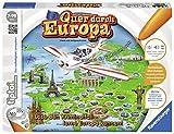 Ravensburger tiptoi Spiel 'Quer durch Europa' - 00579 / Wissensspiel mit spannender Geschichte und Informationen über die wichtigsten Metropolen / Ab 7 Jahre
