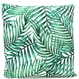 Bada Bing 2er Set Outdoor Kissen FARN FLAMINGO Dekokissen Tropical 45 x 45 Palmen Blätter Garten Trend 63/64