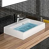 Design Hänge Waschbecken aus Gussarmor/Handwaschbecken/Waschtisch mit Überlauf