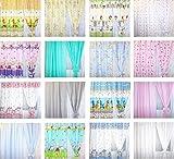 Baby Kinderzimmer Vorhänge Gardine Babygardinen Kindergardinen Safari Eule Bärchen Sterne D23