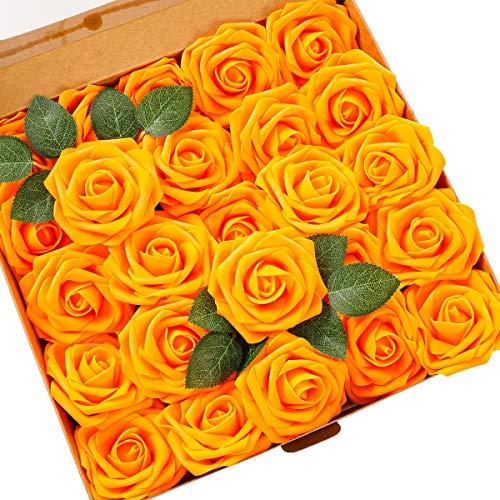 Ksnrang Künstliche Rosen Blumen Schaumrosen Foamrosen Kunstblumen Rosenköpfe Gefälschte Kunstrose Rose DIY Hochzeit Blumensträuße Braut Zuhause Dekoration