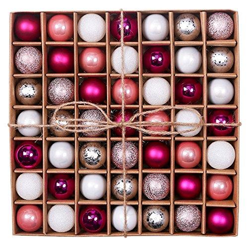 Valery Madelyn 3CM 49 Stücke Weihnachtskugeln