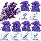baishilin Lavendelsäckchen (120g) – Duftsäckchen mit echtem Französischen Lavendel zur Entspannung und als effektiver Mottenschutz (6 Beutel, luftdichter Verpackung)