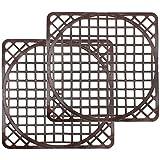 COM-FOUR 2x Spülbeckenmatte universal in braun, 30,5 x 30,5 cm, Spülmatte schützt die Oberfläche der Spüle und das Geschirr, zuschneidbar in rund (braun - 2 Stück)