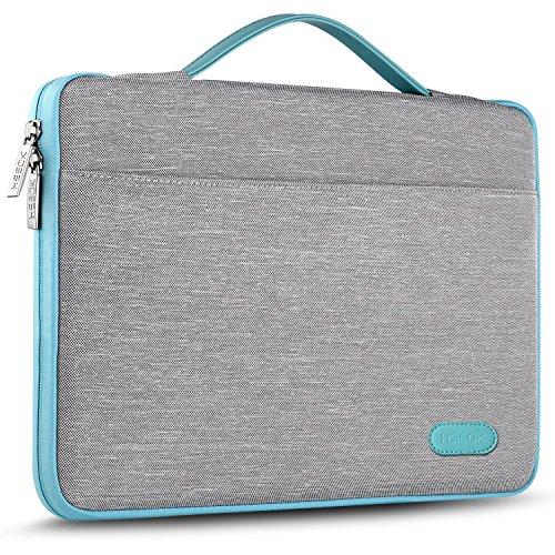 HSEOK 15,6 Zoll Aktentasche Laptop Handtasche Hülle Tasche, Stoßfeste Wasserdicht PC Sleeve kompatibel mit 15,4 Zoll MacBook Pro und die meisten 15-15,6 Zoll Notebook UltraBook Tablet, Grau